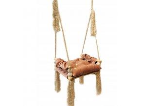 Detská drevená hojdačka Pink 4
