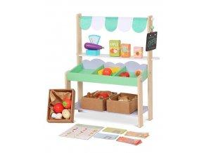 Detský drevený obchod Obláčik Ecotoys