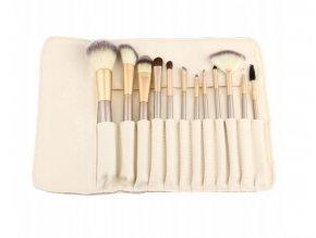 Sada štetcov na make-up Cream Beauty 12ks s puzdrom