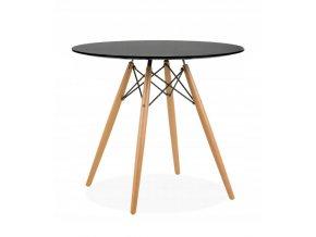 Okrúhly stôl ANELLO Black 80 cm
