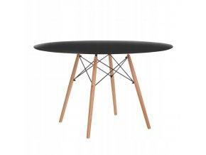 Okrúhly stôl ANELLO Black 100 cm