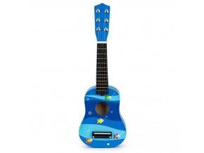 Detská drevená gitara Blue Sea