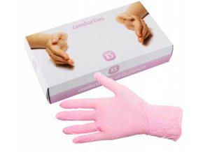 jednorazove latexove rukavice ruzove xs(1)