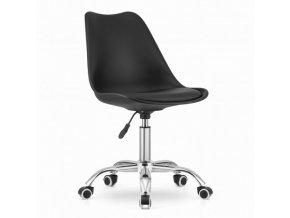 Kancelárska stolička čierna škandinávsky štýl BASIC