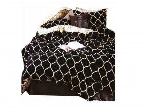 Bavlnené obliečky Beige/Black Grid 140x200cm