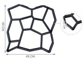 Forma na betónovú dlažbu 50x50x4,5 cm Deter