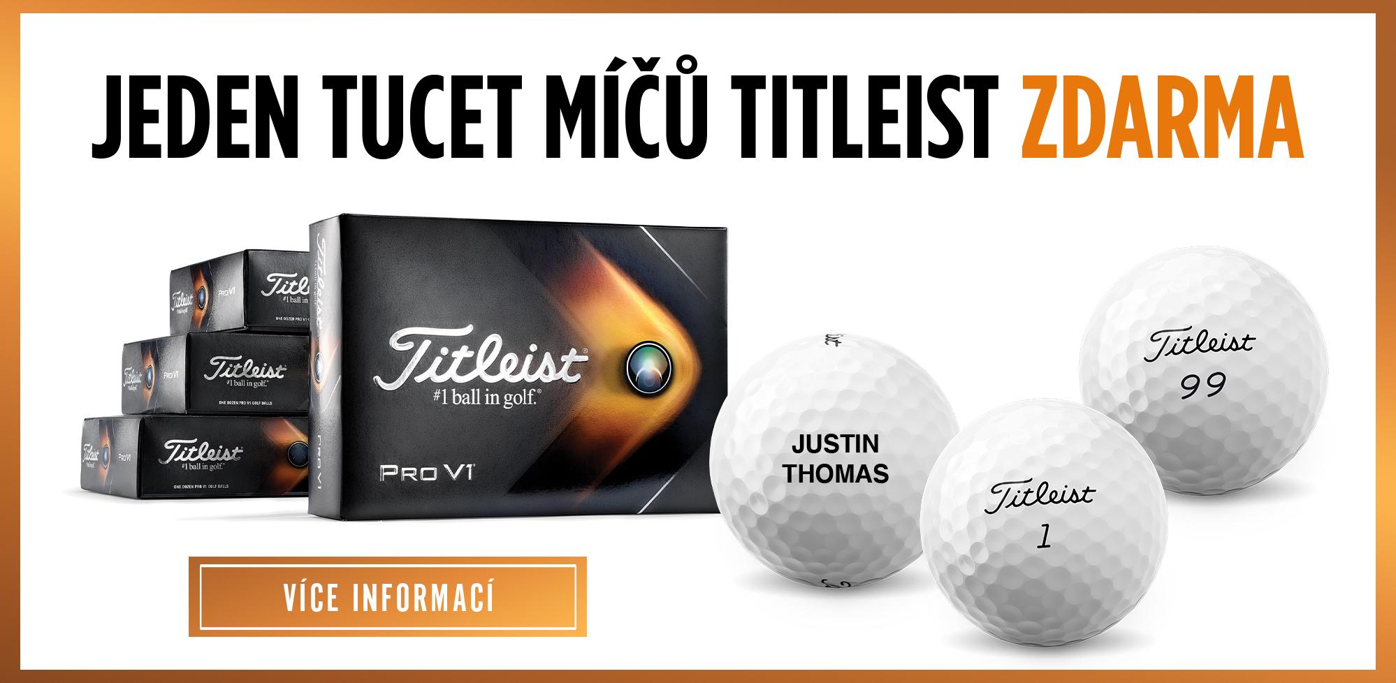 Odměna za věrnost - 1 tucet míčů Titleist Zdarma