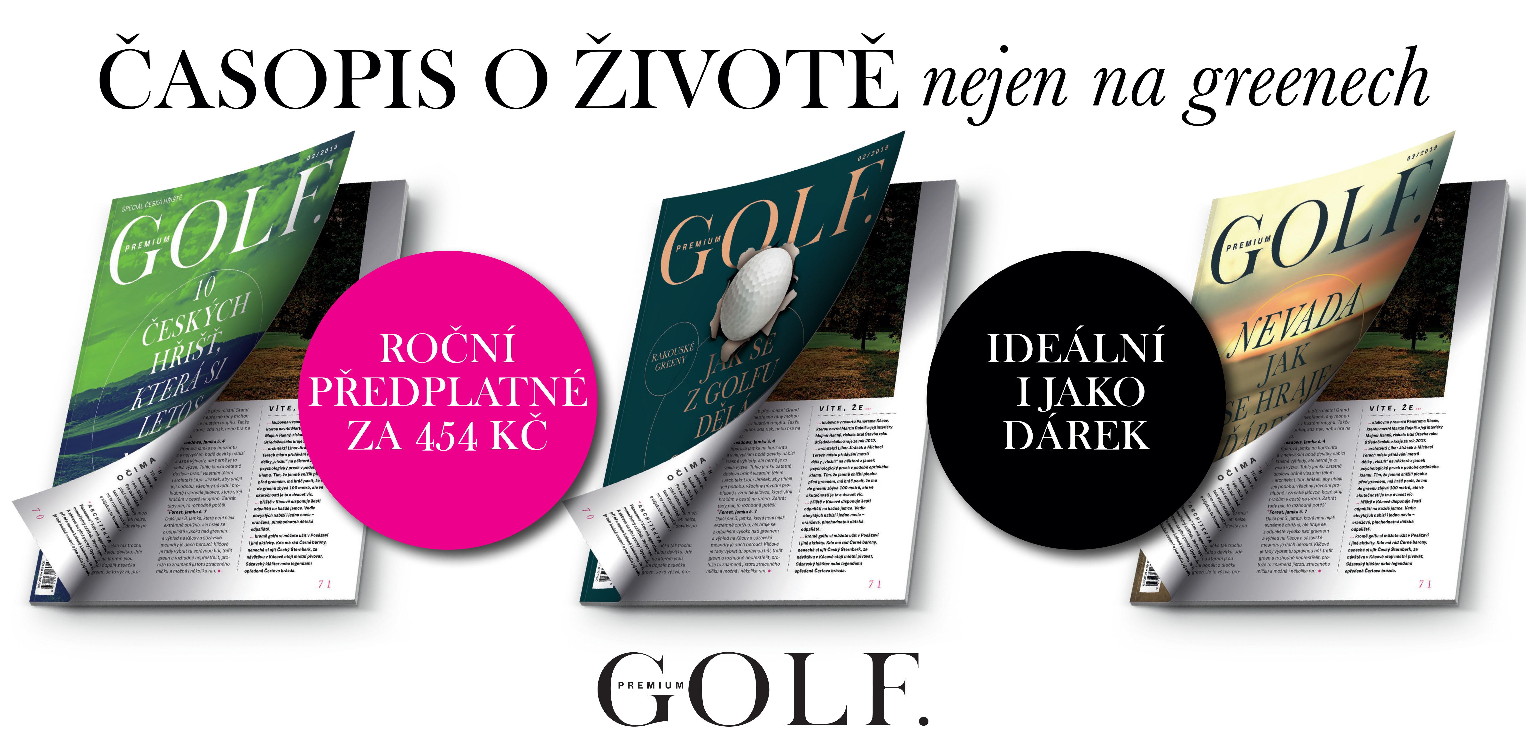 Roční předplatné časopisu Premium Golf