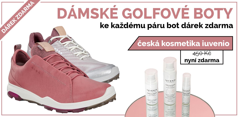 Ke každému páru dámských golfových bot kosmetika zdarma
