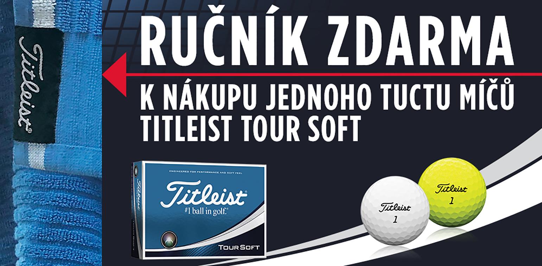 K míčkům Tour Soft ručník Titleist zdarma