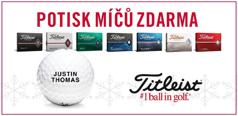 Vánoční akce Titleist - potisk míčků zdarma