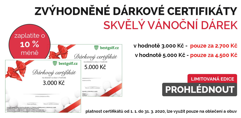 Zvýhodněné dárkové certifikáty