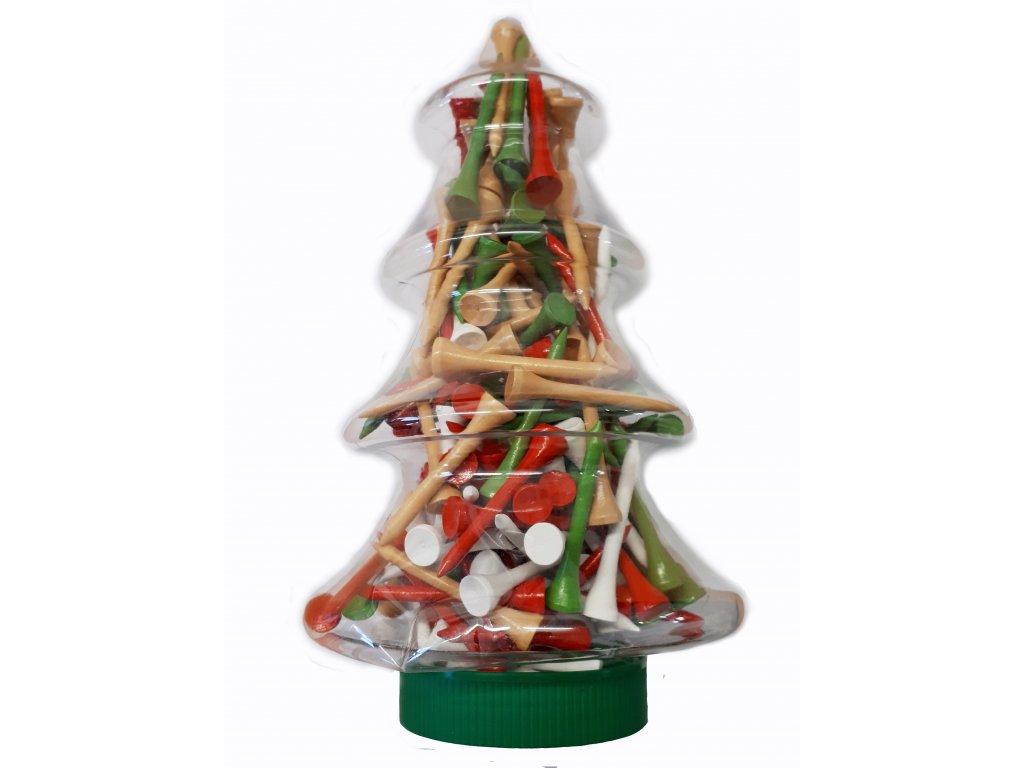 Vánoční stromek se 160 ks tee