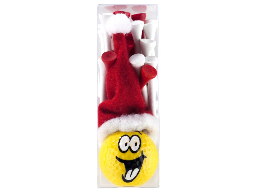 SPORTIQUES míček smajlík Santa + tees