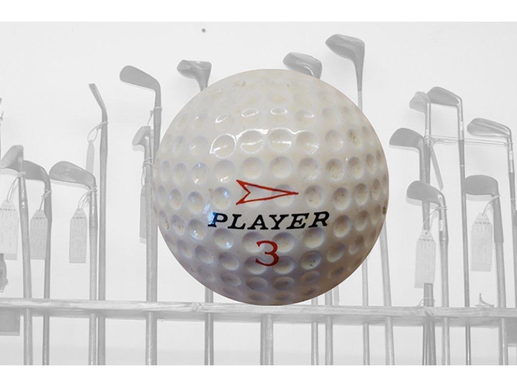 Historický golfový míček Player 3