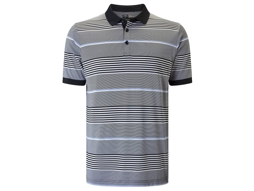 CALLAWAY pánské tričko stripe III šedo-černé  + Malé balení týček 10 ks