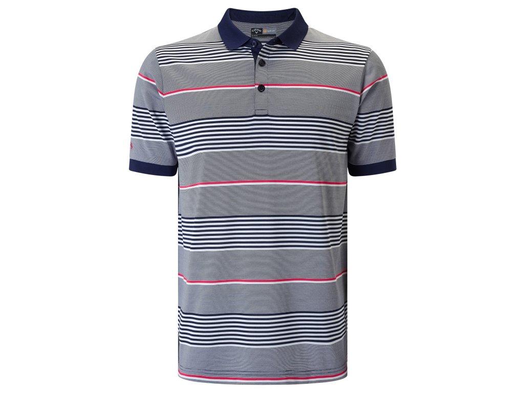 CALLAWAY pánské tričko stripe III šedo-modré  + Malé balení týček 10 ks