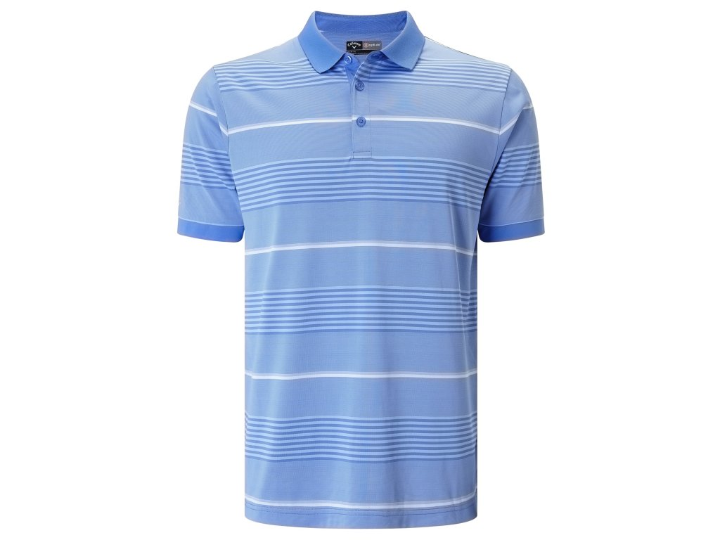 CALLAWAY pánské tričko Stripe III modro-bílé  + Malé balení týček 10 ks
