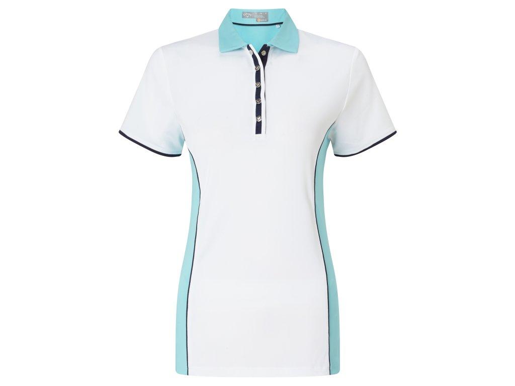 CALLAWAY dámské tričko Sleeveless Blocked bílo-tyrkysové