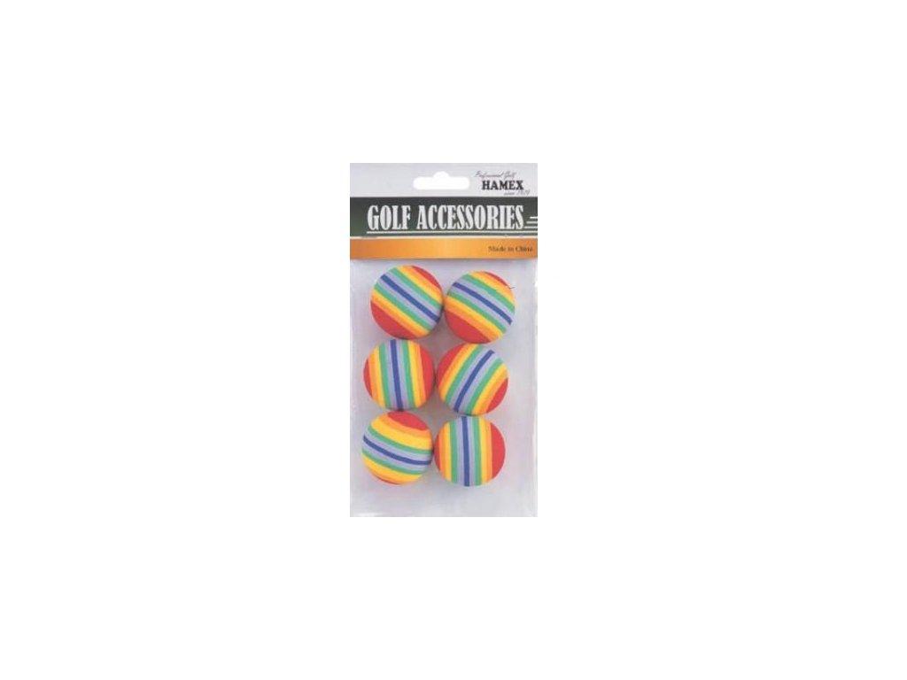 Tréninkové míčky barevné  pěnové