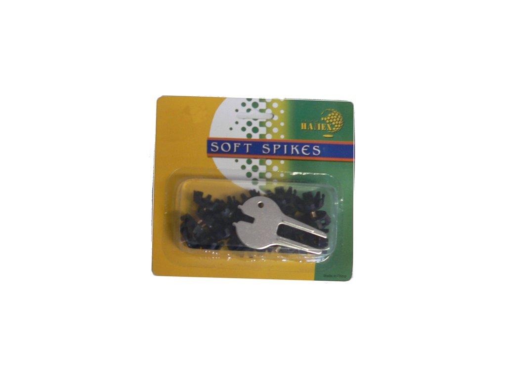 Soft Spikes (22 černých spiků a ocelové vypichovátko)
