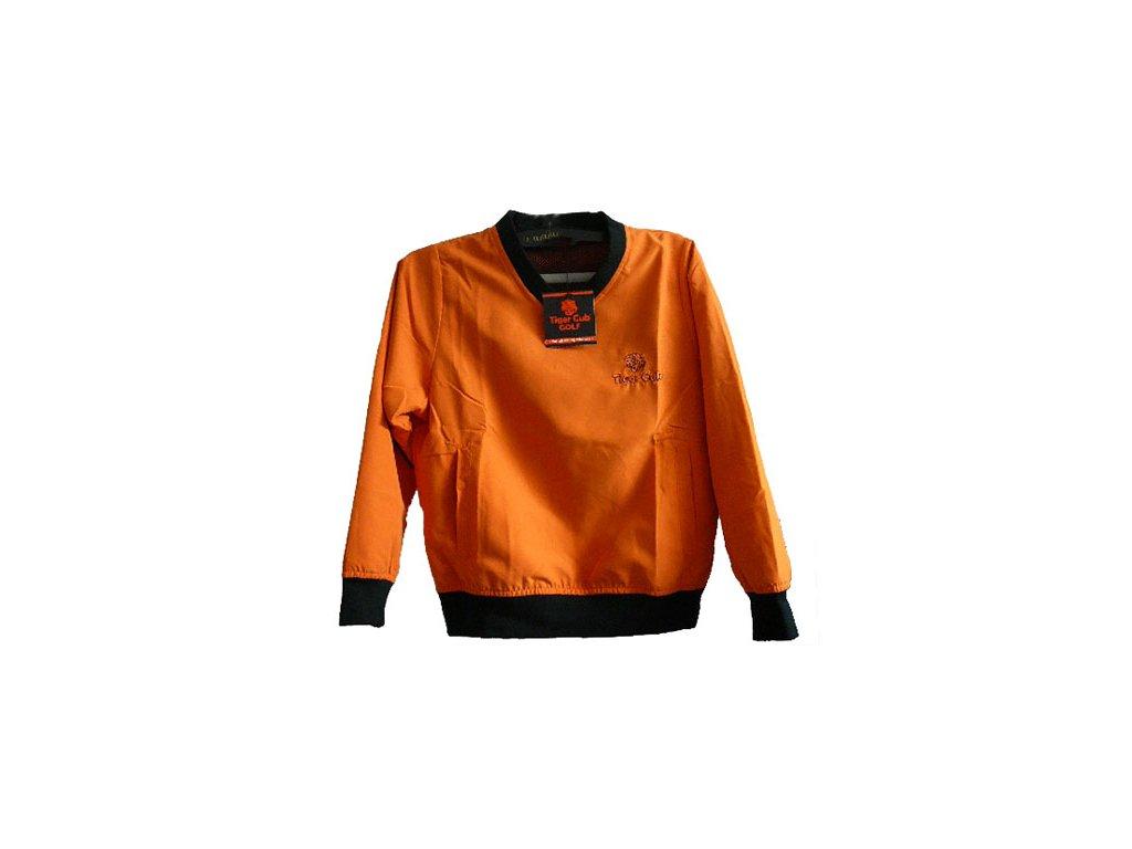 Tiger Cub dětská golfová bunda oranžovo-černá
