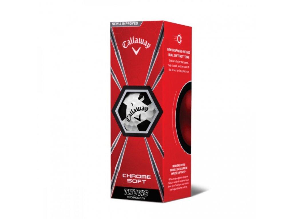 CALLAWAY Chrome Soft 18 Truvis golfové míčky bílo-černé (3 ks)