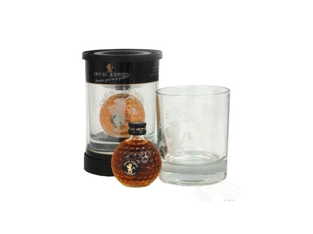 Whisky OLD ST. ANDREWS malá v dárkovém balení se skleničkou
