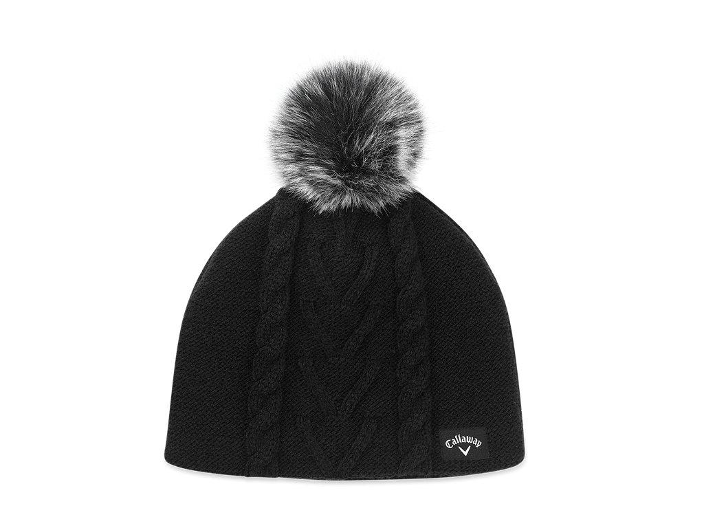 CALLAWAY dámská zimní čepice Pom Pom Beanie černá