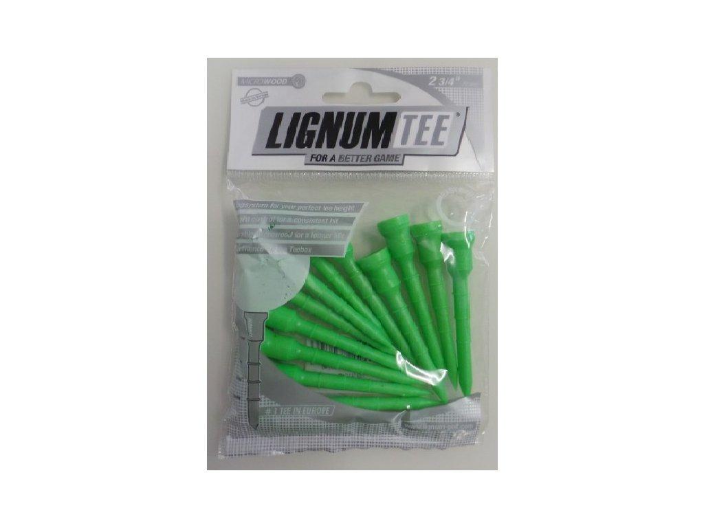 Lignum tee 72 mm zelené
