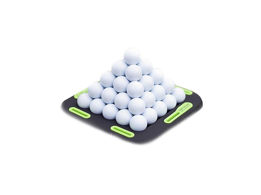 CE-BOW golfová forma na míčkové pyramidy  + Malé balení týček 10 ks