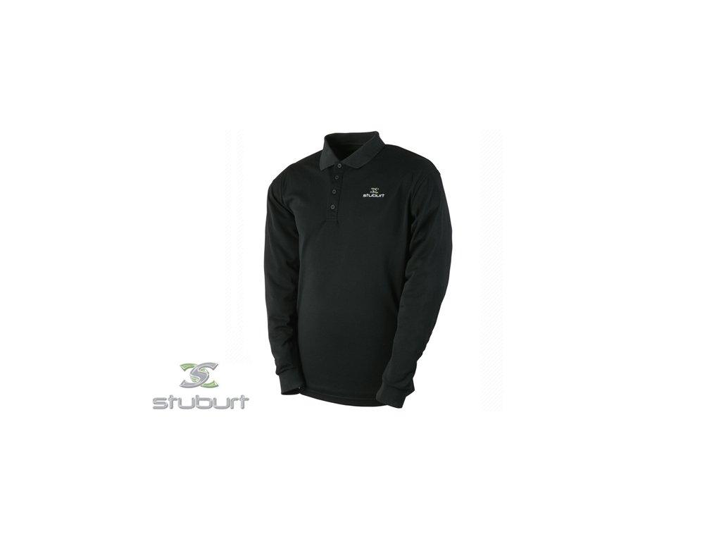 STUBURT tričko Essentials LS Polo Shirt černé (Velikost oblečení S)