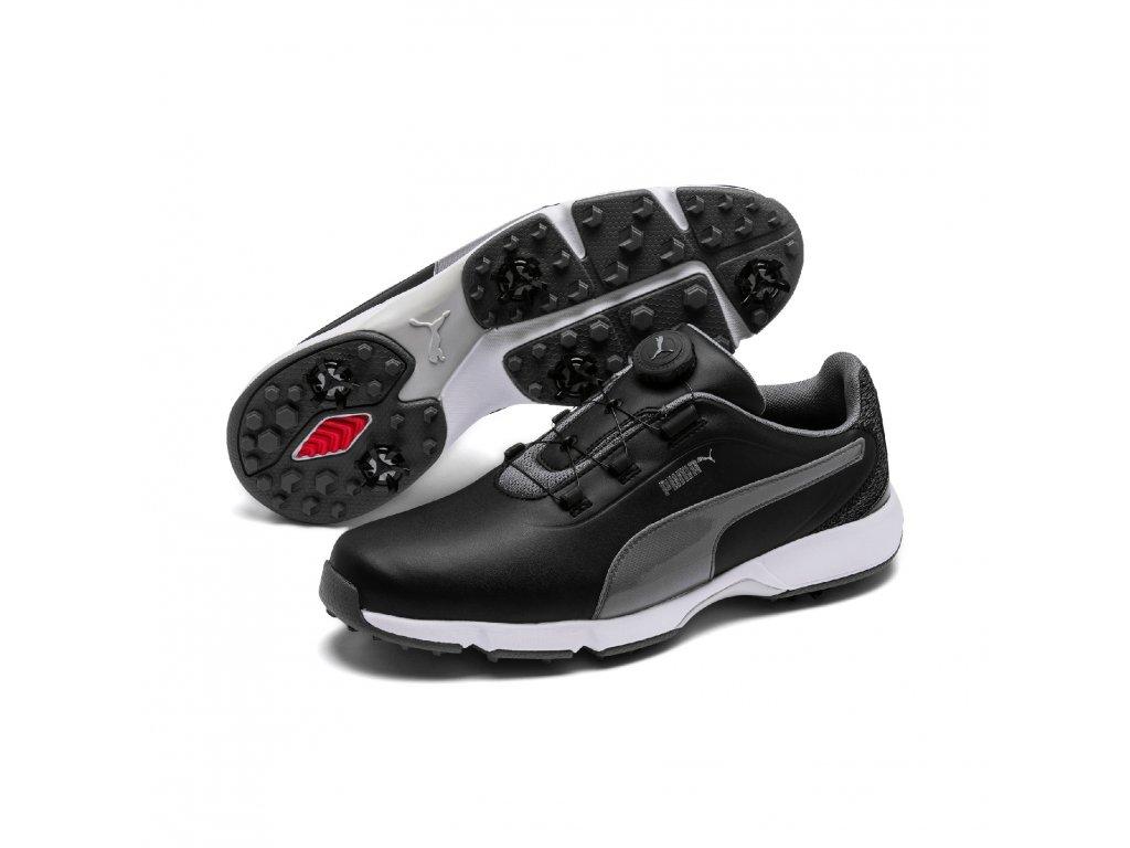 PUMA Drive Fusion Disc pánské golfové boty černé  + Malé balení týček 10 ks