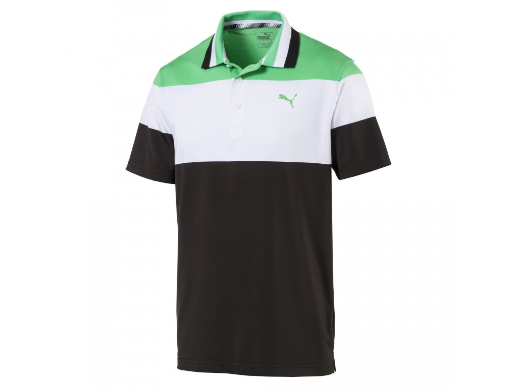 PUMA pánské tričko Nineties Irish modro-bílo-zelené