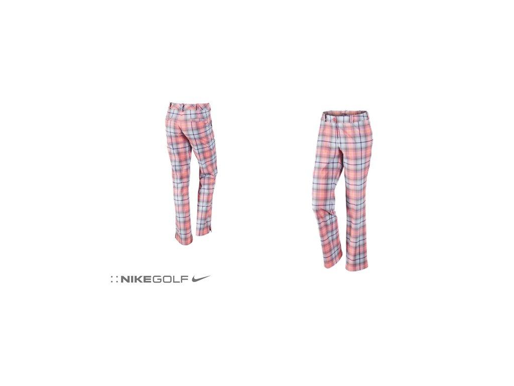 NIKE dámské kalhoty Modern Rise Tartan Pant růžové (Velikost kalhot 42)