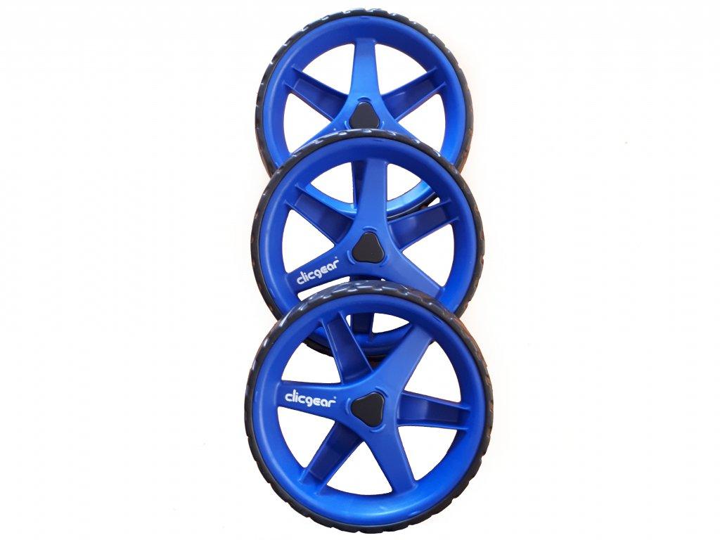 CLICGEAR Wheel Kit náhradní kolečka modré - 3 ks  + Malé balení týček 10 ks