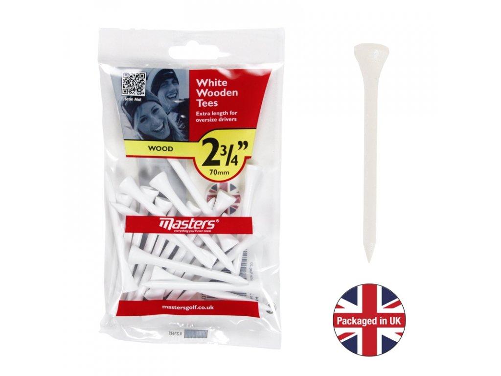 MASTERS Wood Tees 2 3/4 bal. 20 ks bílé
