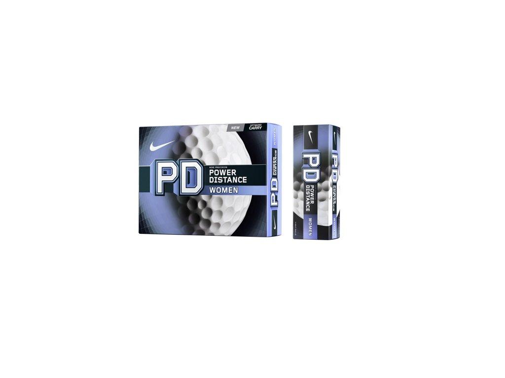 NIKE golfové míčky PD8 Power Distance (3 ks)