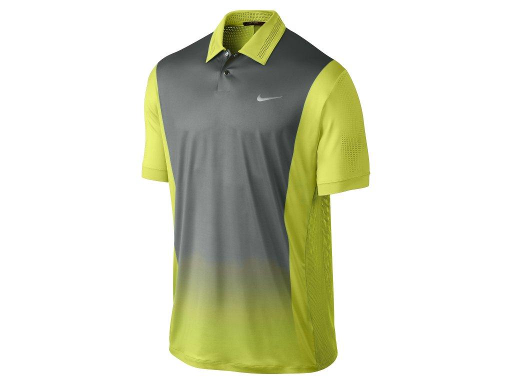 NIKE triko TW Print Polo zeleno- šedé (Velikost oblečení S)