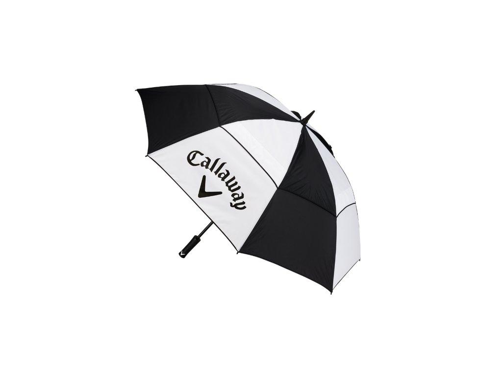 "CALLAWAY deštník Clean 60"" Double Canopy černo-bílý"