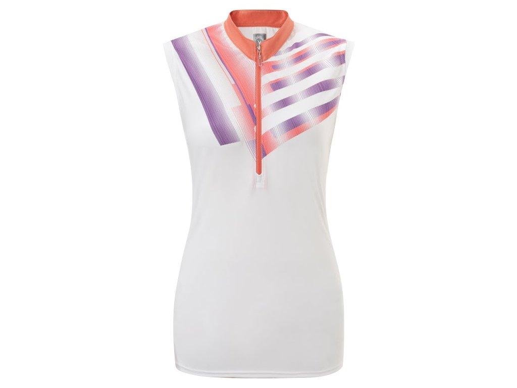 CALLAWAY dámské tričko Cache bílé (Velikost oblečení S)