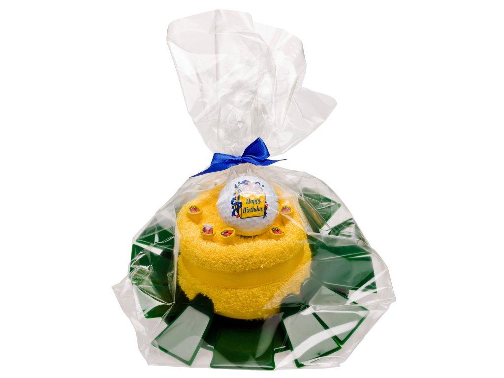 Dárková sada - jamka, ručník, tee, míček