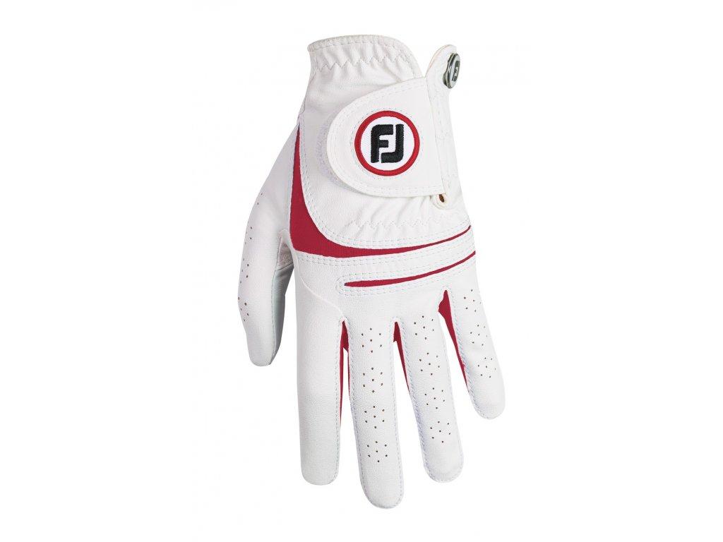 FOOTJOY dámská rukavice Weathersof fashion bílo-červená (Velikost rukavic L)