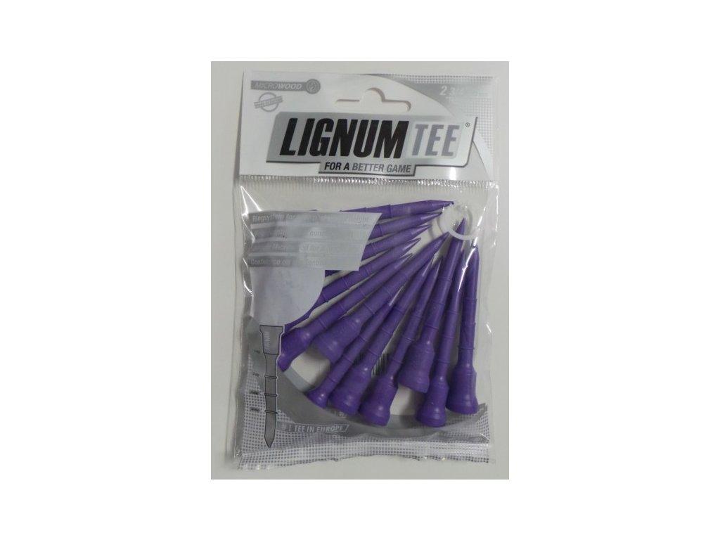 Lignum tee 72 mm fialové