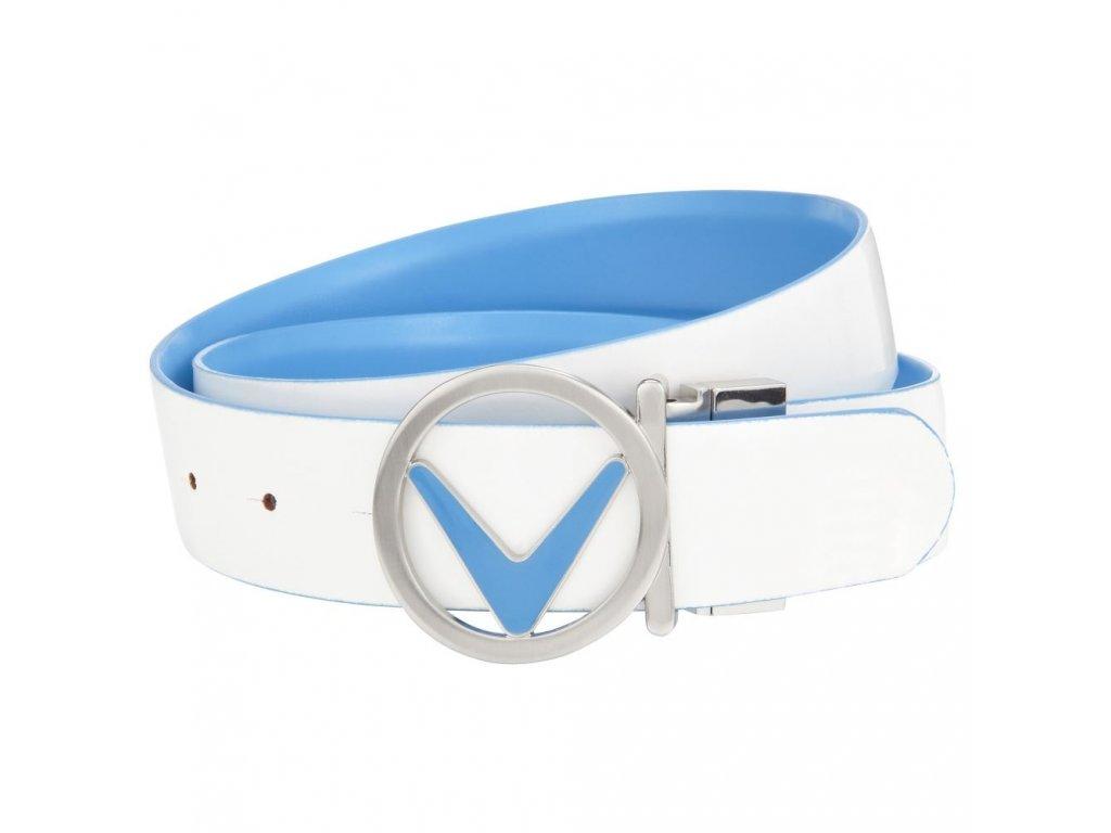 CALLAWAY dámský pásek Reversible bílo-modrý (Velikost opasku S)