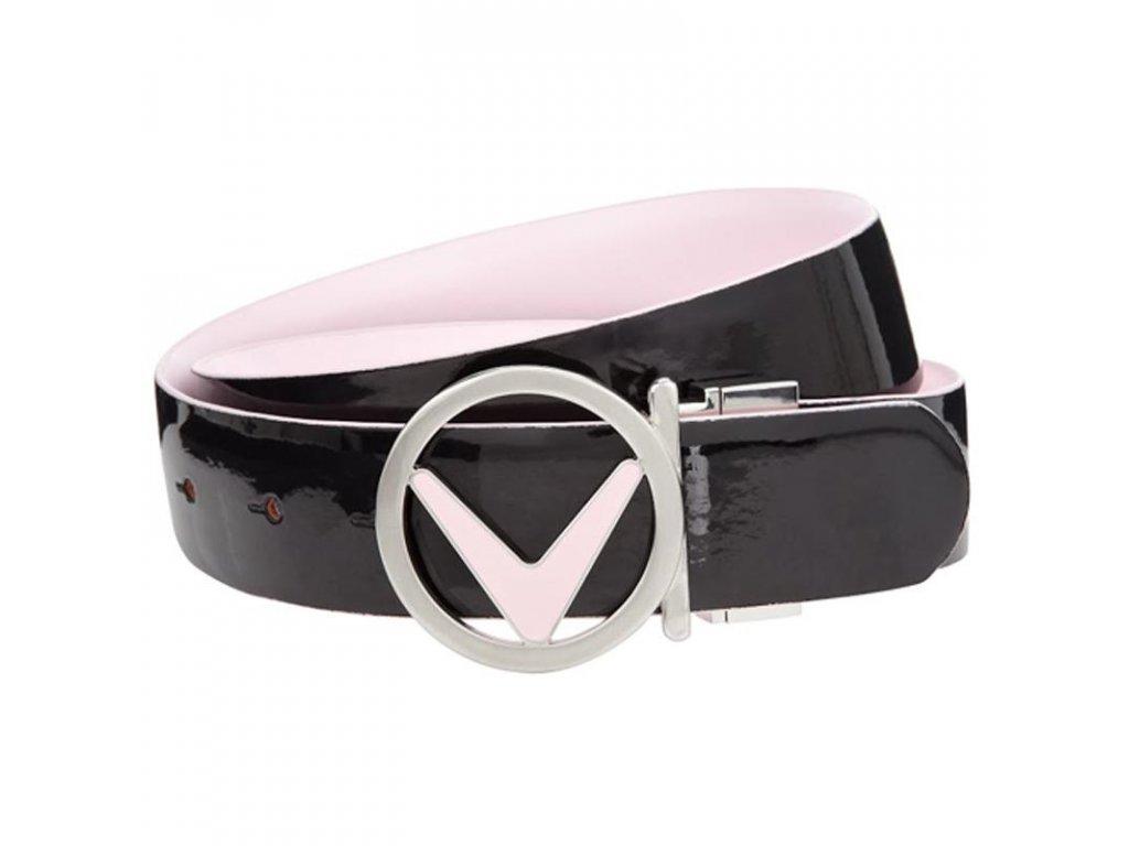 CALLAWAY dámský pásek Reversible růžovo-černý (Velikost opasku S)