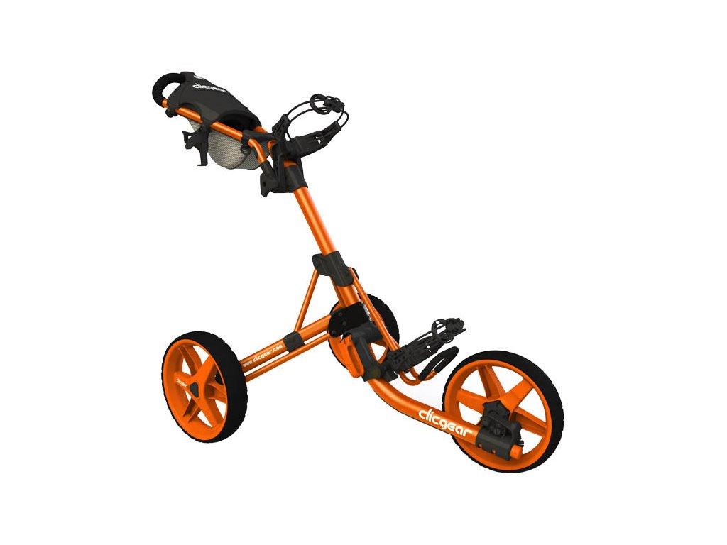 CLICGEAR 3.5+ golfový vozík oranžový  + Velké balení týček 20 ks