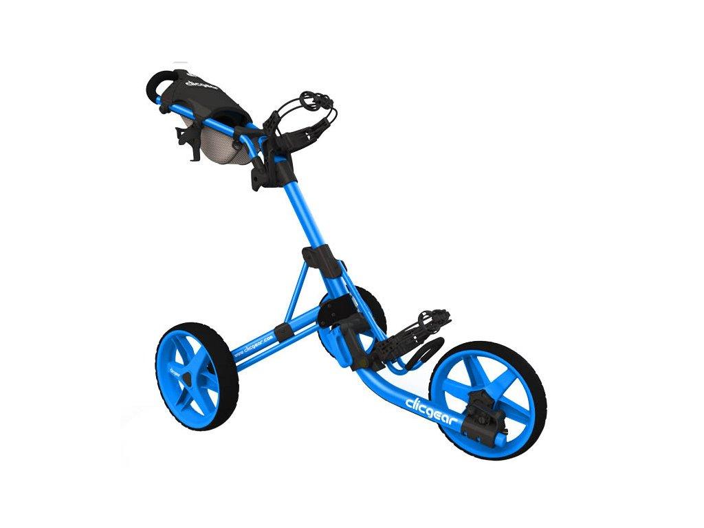 CLICGEAR golfový vozík 3.5+ modrý  + Ocelová vypichovátka 2 ks