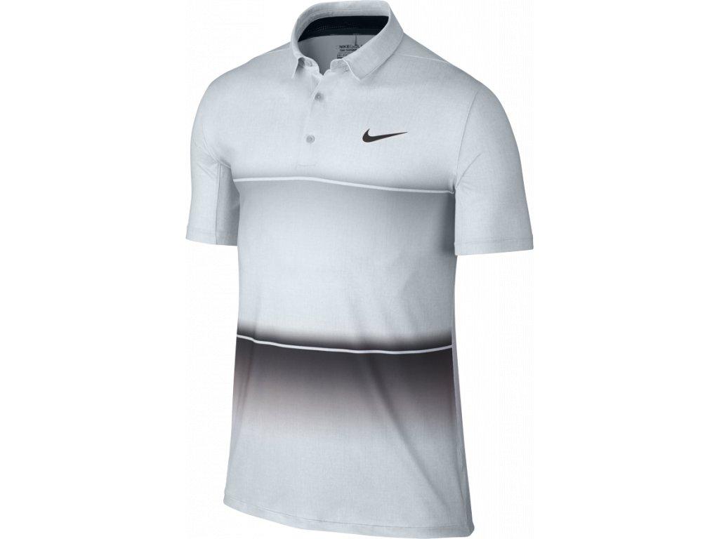 f24897cd11c5 NIKE pánské tričko Mobility Stripe Polo šedé (Velikost oblečení L)