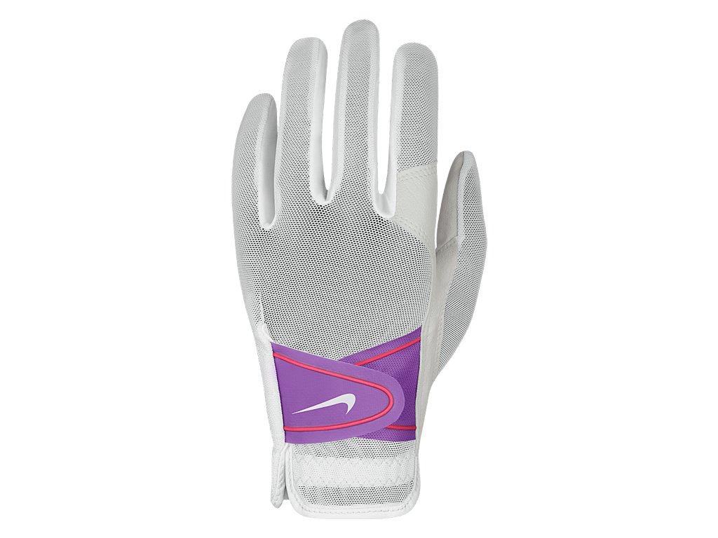 NIKE dámská rukavice Summer Lite II bílo-fialová (Velikost rukavic L)